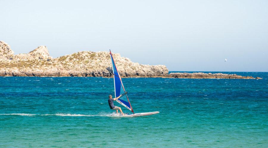 Exploring Sagres, Portugal by SUP Windsurfer